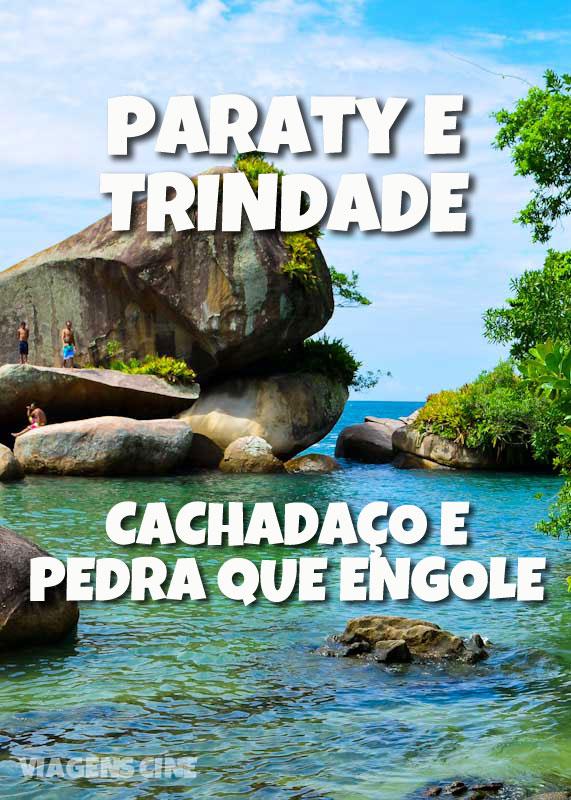 Praias de Paraty e Trindade: Praia do Meio, Cachadaço e Pedra que Engole