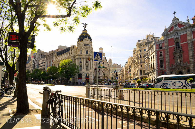 Pôr do Sol na Gran Via Madri