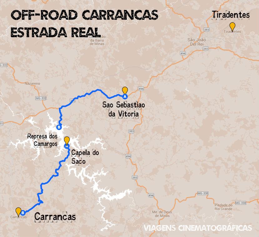Carrancas Estrada Real - Mapa