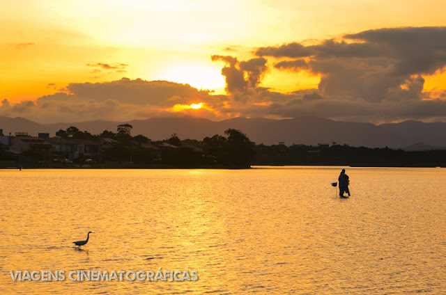 Pôr do Sol Lagoa de Ibiraquera Imbituba