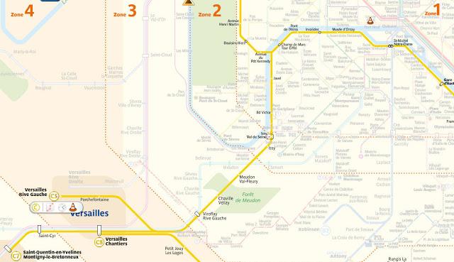 Versailles - Como Chegar - Mapa Trem