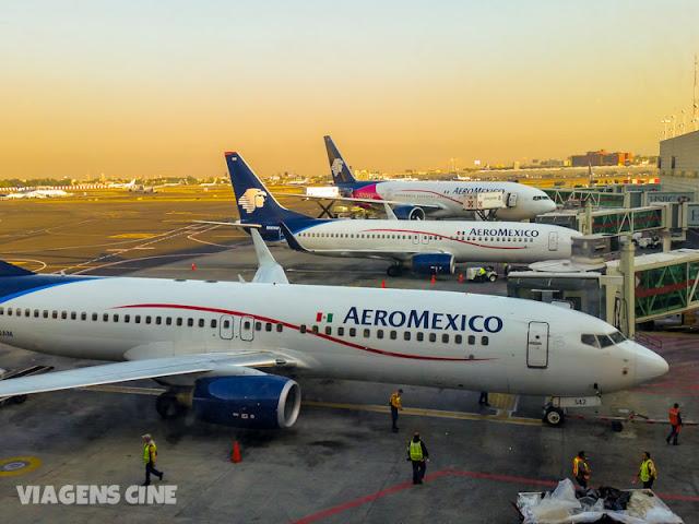 Como ir para o México: voando de Aeromexico