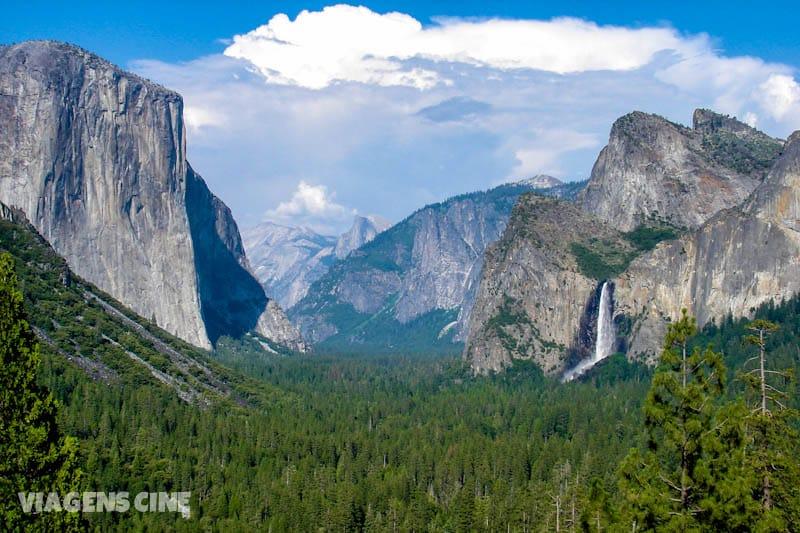 O parque Yosemite é uma das paisagens mais espetaculares da Califórnia.