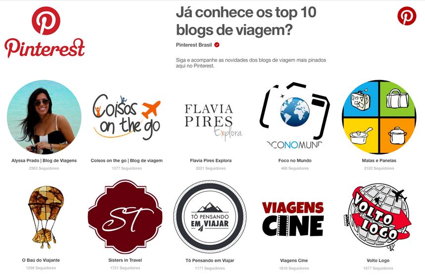 Top 10 Pinterest Brasil