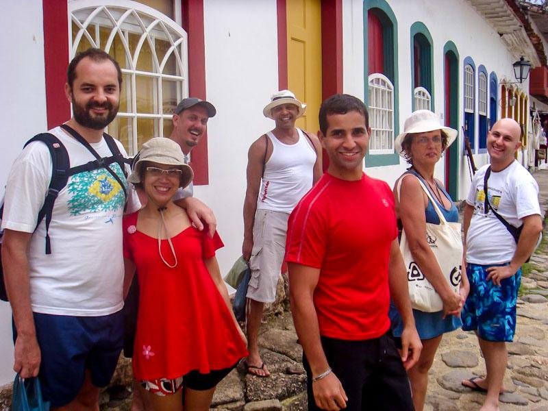 Viagem entre amigos em Paraty: não apareci porque alguém tinha que tirar a foto né