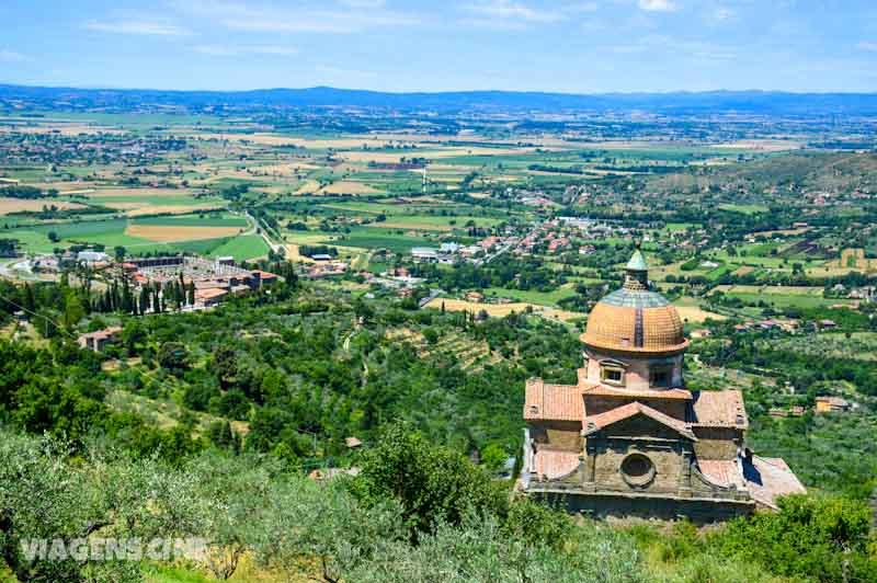 O entorno de Cortona, cidade onde foi filmada a história do filme
