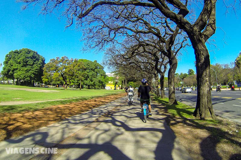 Passeando de bike em Buenos Aires