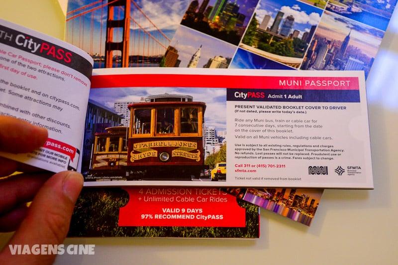 O talão do CityPASS inclui 7 dias de uso gratuito de transporte em São Francisco, inclusive nos bondinhos
