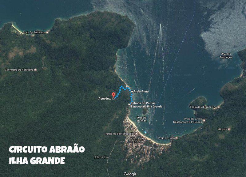 Circuito na Vila do Abraão Mapa