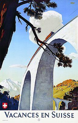 Poster de Edmund Welf, 1946. Crédito: Divulgação Museu do Design de Zurique