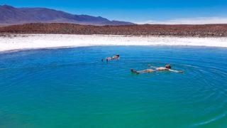 Lagunas Escondidas de Baltinache no Atacama