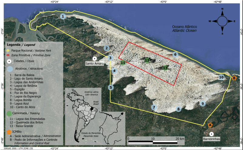 O que fazer em Barreirinhas - Lençóis Maranhenses: Melhores Passeios - Lagoa Azul e Rio Preguiças